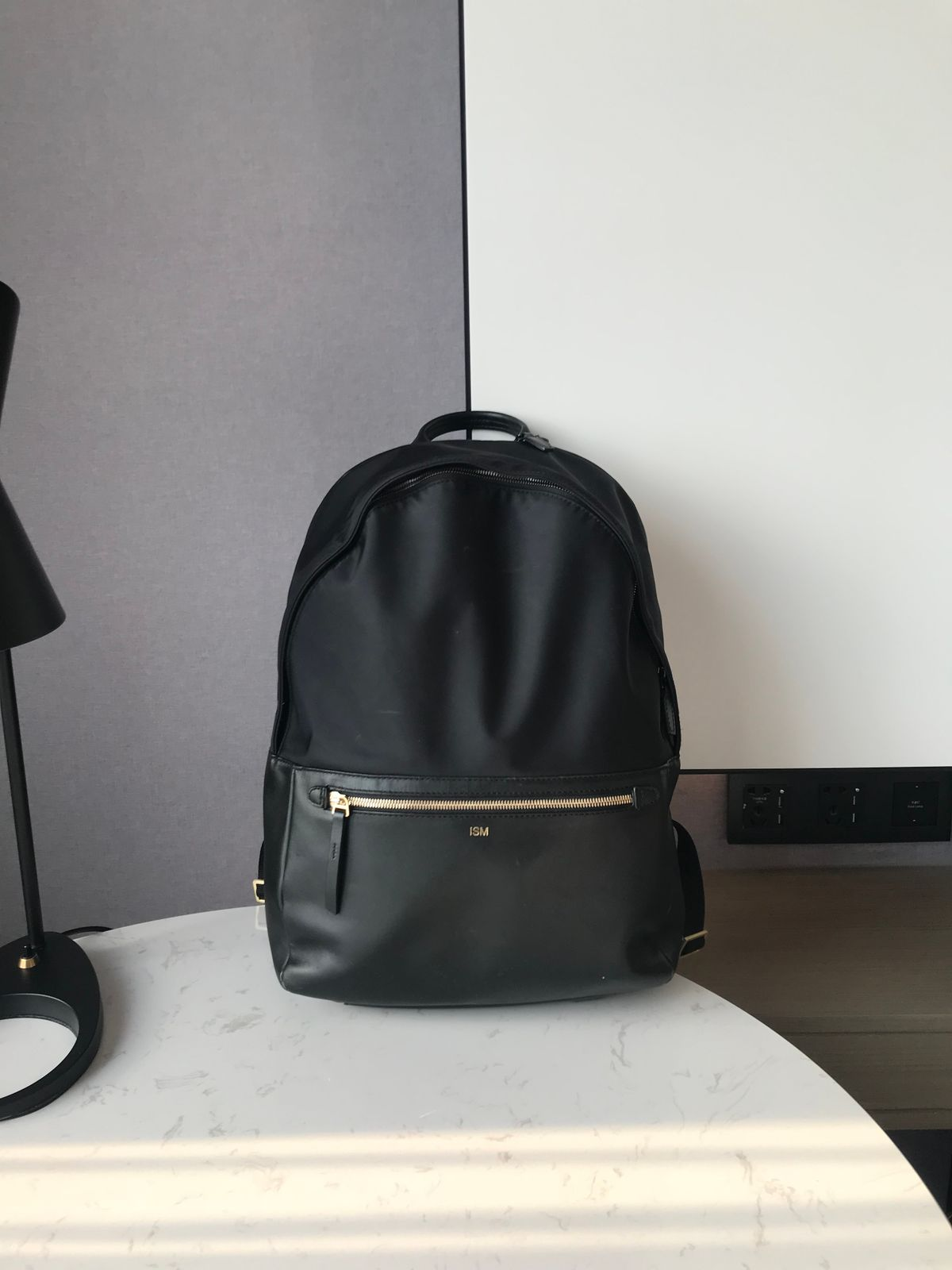 7065ae29f3905 ISM  The Classic (Black) - Leather Laptop Backpack