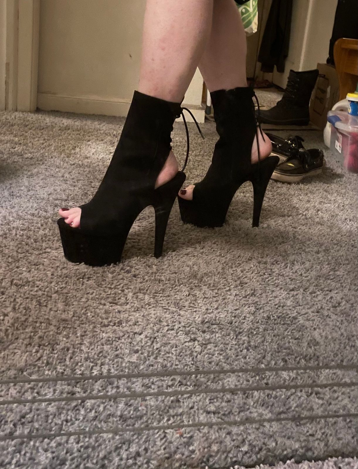 """Details about  /PLEASER Adore-1018FS Series7/"""" Heel Ankle-High Boot"""